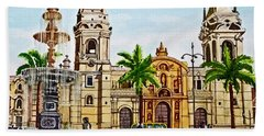 Plaza Armas, Cusco, Peru Beach Towel