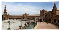 Beach Towel featuring the photograph Plaza De Espana 4 by Andrew Fare