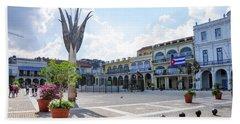 Plaza Vieja Beach Towel