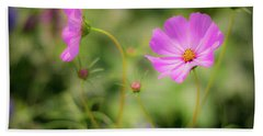 Pleasant Summer Wild Flowers Beach Sheet