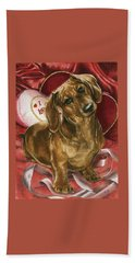 Beach Towel featuring the mixed media Please Be Mine by Barbara Keith