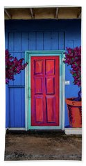 Beach Sheet featuring the photograph Please Use Other Door by Roger Mullenhour