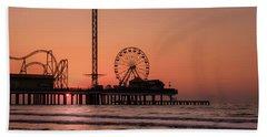 Pleasure Pier At Sunrise Beach Towel