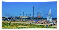 Pleasure Pier Sunny Day Beach Towel