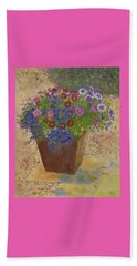 Beach Towel featuring the painting Pleasure Pot by Richard James Digance