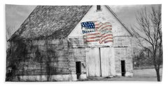 Pledge Of Allegiance Crib Beach Sheet by Kathy M Krause