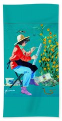 Plein Air Painter  Beach Towel