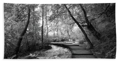 Plitvice In Black And White Beach Towel