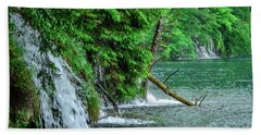 Plitvice Lakes National Park, Croatia - The Intersection Of Upper And Lower Lakes Beach Towel