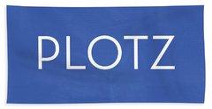 Plotz- Art By Linda Woods Beach Sheet by Linda Woods