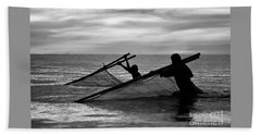 Plowing The Sea - Thailand Beach Towel
