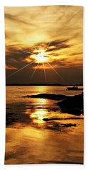 Plum Cove Beach Sunset E Beach Towel