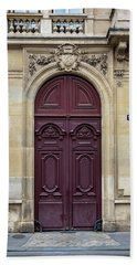 Plum Door - Paris, France Beach Sheet