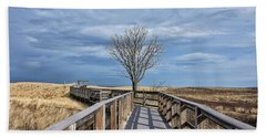 Plum Island Walkway Beach Towel by Tricia Marchlik
