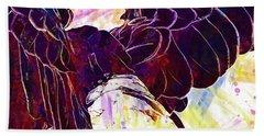 Beach Sheet featuring the digital art Plumage Bald Eagle  by PixBreak Art