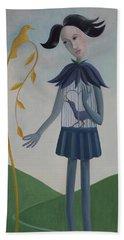 Beach Sheet featuring the painting Plume by Tone Aanderaa