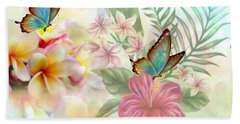 Plumeria Dreams Beach Towel