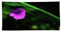 Plumeria Flower Petal On Plumeria Leaf- Kauai- Hawaii Beach Sheet