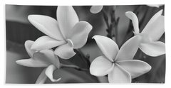 Plumeria Flowers Beach Sheet by Olga Hamilton