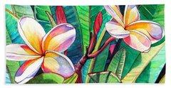 Plumeria Garden Beach Towel