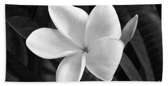 Plumeria In Monochrome Beach Towel