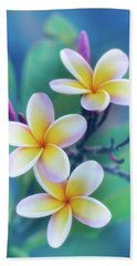Plumerias In Pastel Beach Towel