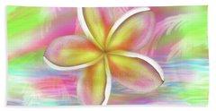 Plumeria Paradise Beach Towel by Dani Abbott