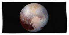 Pluto Dazzles In False Color Beach Sheet by Nasa