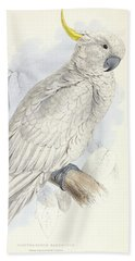 Plyctolophus Galeritus. Greater Sulphur-crested Cockatoo. Beach Towel