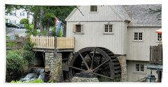 Plymouth Grist Mill Beach Towel