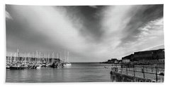 Plymouth Sound Marina Beach Towel