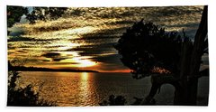 Pocasset Sunset Beach Towel
