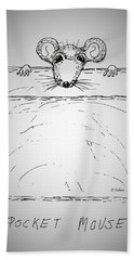 Pocket Mouse Beach Towel by Denise Fulmer