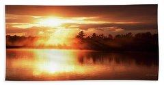 Pocono Mountains, Pennsylvania, Sunset Beach Towel by A Gurmankin