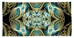 Beach Towel featuring the digital art Poetry In Motion by Lea Wiggins