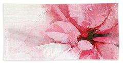 Poinsettia Abstract Beach Towel