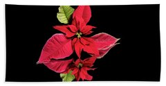 Poinsettia Reflection  Beach Towel
