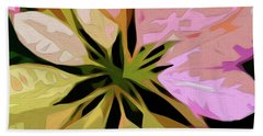 Poinsettia Tile Beach Towel