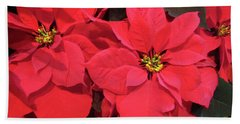 Poinsettias Beach Towel