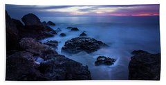 Point Dume Rock Formations Beach Towel