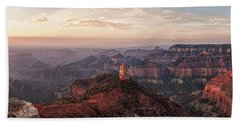 Point Imperial Sunrise Panorama I Beach Towel by David Cote