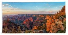 Point Imperial Sunrise Panorama II Beach Sheet by David Cote