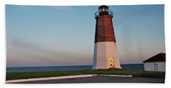 Point Judith Lighthouse Rhode Island Beach Towel