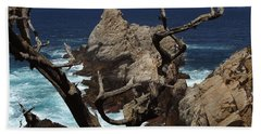 Point Lobos Rocks And Branches Beach Towel