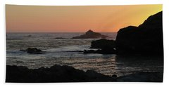 Point Lobos Sunset Beach Towel