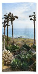 Beach Sheet featuring the photograph Point Loma Lighthouse Overlook by Glenn McCarthy