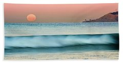 Point Loma Moonset Beach Towel