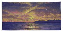 Point Loma Sunset 01 Beach Towel