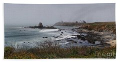 Beach Towel featuring the photograph Point Montara Lighthouse by David Bearden
