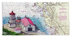 Point Reyes Light Station Beach Sheet by Mike Robles
